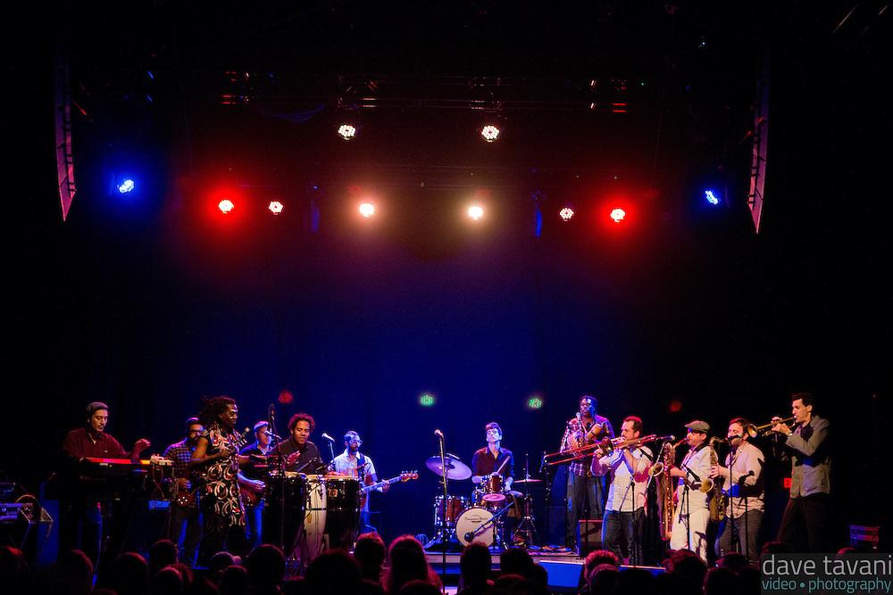 Antibalas performs at Union Transfer in Philadelphia on December 13, 2012.