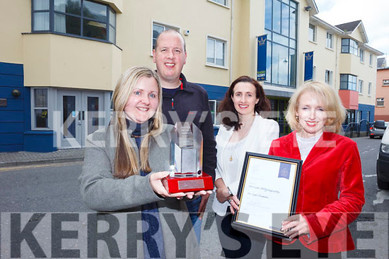 Radio Kerry received two honours at the Justice Media Awards at the Law Society of Ireland at Blackhall Place in Dublin recently, winning the Local Radio category and receiving a Certificate of Merit. Pictured are: Marian O'Flaherty, Jerry O'Sullivan, Treasa Murphy and Miriam McGillicuddy.