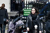 SA FILLE VICTOIRE VECCHIERINI - OBSEQUES DE COLLETTE AIGNAN, MERE DE NICOLAS DUPONT-AIGNAN, EN L' EGLISE SAINT PIERRE DU GROS CAILLOU, PARIS, 04/05/2017