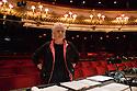 London, UK. 13.06.2013. Mimi Sherin, Lighting Designer, at work on Benjamin Britten's GLORIANA, at the Royal Opera House, Covent Garden, London. Photograph © Jane Hobson, 2013.