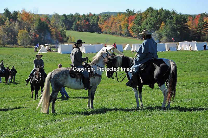 Civil War Reenactment Confederate Army Cavalry Drill