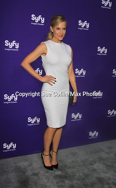 Julie Benz - Defiance at SYFY 2013 Upfront Event on April 10, 2013 at Silver Screen Studios, NYC, NY (Photo by Sue Coflin/Max Photos)........... (Photo by Sue Coflin/Max Photos)