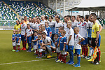 Rangers and Linfield together before the game
