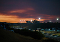 Jul 27, 2018; Sonoma, CA, USA; Overall view as the sun sets over the top end of the track during NHRA qualifying for the Sonoma Nationals at Sonoma Raceway. Mandatory Credit: Mark J. Rebilas-USA TODAY Sports