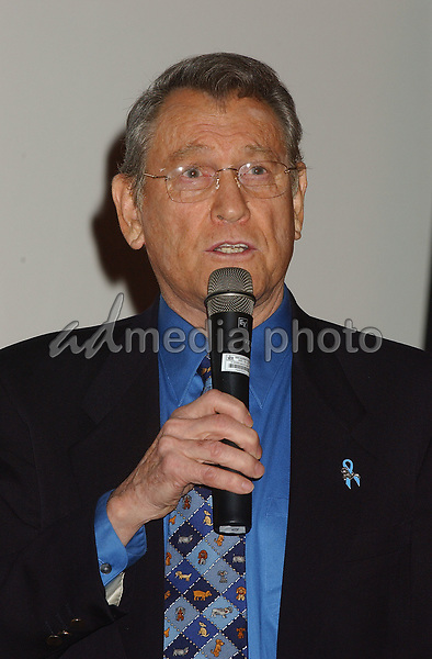 08 February 2005 - Los Angeles, California - Earl Holliman. James Dean 50th Anniversary Year Global Media Event held at Pacific Theatre launching a year-long commemorative tribute to James Dean. Warner Home Video will debut a documentary 'James Dean: Forever Young'  at Cannes 2005. Photo Credit: Laura Farr/AdMedia