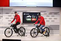 Sergio Ramos and Iker Casillas participates and receives new Audi during the presentation of Real Madrid's new cars made by Audi in Madrid. December 01, 2014. (ALTERPHOTOS/Caro Marin) /Nortephoto