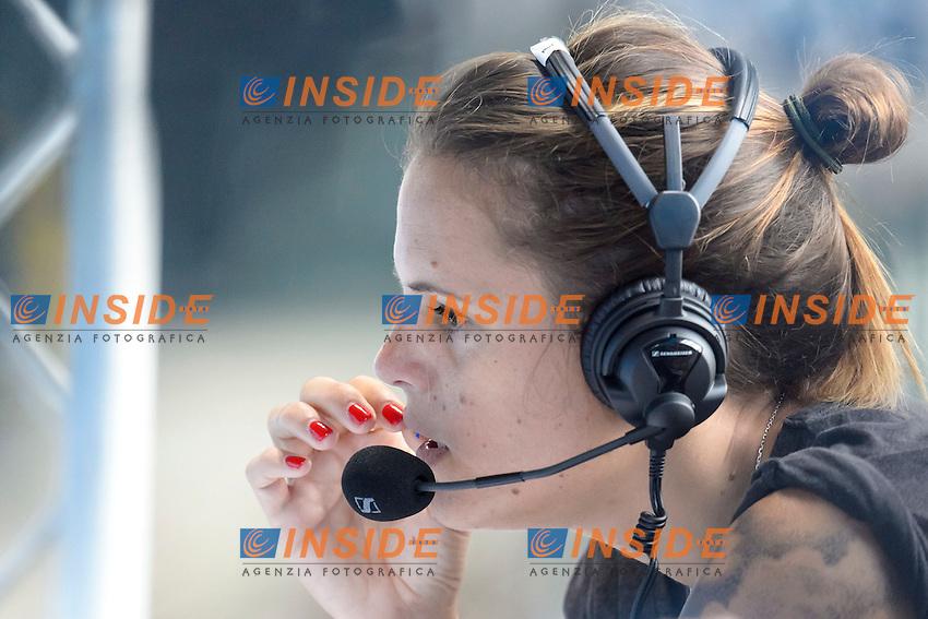 Laure MANAUDOU at work <br /> <br /> London, Queen Elizabeth II Olympic Park Pool <br /> LEN 2016 European Aquatics Elite Championships <br /> Swimming<br /> Day 10 18-05-2016<br /> Photo Andrea Staccioli/Deepbluemedia/Insidefoto