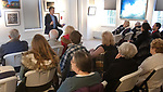 WOODBURY CT. - 29 December 2019-1229SV02-Woodbury's own poet laureate David Bibbey gave a free 1-hour poetry reading on the last day of the inaugural Arts Alliance of Woodbury members exhibition at the library in Woodbury Sunday.<br /> Steven Valenti Republican-American