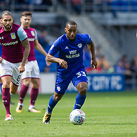 Junior Hoilett of Cardiff City during the Sky Bet Championship match between Cardiff City and Aston Villa at the Cardiff City Stadium, Cardiff, Wales on 12 August 2017. Photo by Mark  Hawkins / PRiME Media Images.