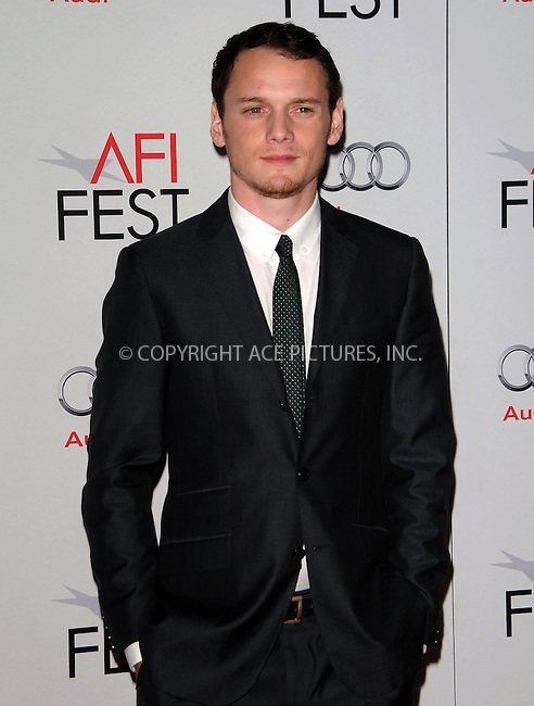 WWW.ACEPIXS.COM . . . . .  ....November 4 2011, LA....Anton Yelchin arriving at the LA Times Young Hollywood Roundtable during the AFI FEST 2011 at Mann's Chinese theatre on November 4, 2011 in Los Angeles, California.....Please byline: PETER WEST - ACE PICTURES.... *** ***..Ace Pictures, Inc:  ..Philip Vaughan (212) 243-8787 or (646) 679 0430..e-mail: info@acepixs.com..web: http://www.acepixs.com