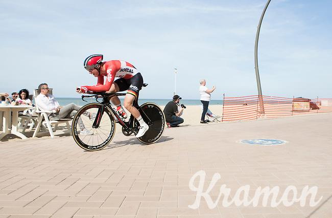 Remy Mertz (BEL/Lotto-Soudal)<br /> <br /> 3 Days of De Panne 2017<br /> afternoon stage 3b: ITT De Panne-De Panne (14,2km)