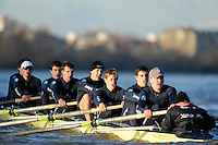 "London; GREAT BRITAIN; Oxford University Trial Eights for crew selection for 157th Boat Race [April 2011]  raced over the Championship Course Putney to Mortlake  on the River Thames. Wednesday  - 08/12/2010   [Mandatory Credit; ""Photo, Peter Spurrier/Intersport-images].Crews.OUBC Nature; Surrey Station.Bow, Charlie AUER, 2. Tom WATSON, 3. Dan HARVEY, 4. David WHIFFIN, 5, Karl HUDSPITH, 6. Moritz HAFNER, 7. Ben MYERS, stroke. Constantine LOULOUDIS and cox Zoe DeTOLEDO...OUBC Nurture Middx Station [White Tops].Bow, George BLESSLEY, 2. Matt POINTING, 3. Alex WOODS, 4. Alex DENT, 5. Ben ELLISON,6. Simon HISLOP, 7. George WHITTAKER, Stroke Ben SNODIN and Cox Hannah LEADBETTER.."