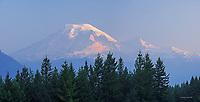 Mt. Rainier sunrise in summer