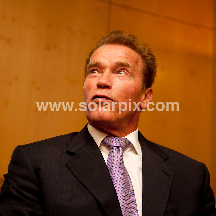 **ALL ROUND PICTURES FROM SOLARPIX.COM**                                             **WORLDWIDE SYNDICATION RIGHTS EXCEPT SPAIN - NO SYNDICATION IN SPAIN**                                                                                  . Actor and California Governor Arnold Schwarzenegger at Ifema Congress Palace.                                                                        This pic:   Arnold Schwarzenegger                                                                                           JOB REF:    14059    DMS Dolores       DATE:  10.10.11                                                          **MUST CREDIT SOLARPIX.COM OR DOUBLE FEE WILL BE CHARGED**                                                                      **MUST AGREE FEE BEFORE ONLINE USAGE**                               **CALL US ON: +34 952 811 768 or LOW RATE FROM UK 0844 617 7637**