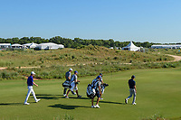 Joaquin Niemann (CHL), Seamus Power (IRL), and Sam Ryder (USA) head down 11 during round 1 of the AT&amp;T Byron Nelson, Trinity Forest Golf Club, at Dallas, Texas, USA. 5/17/2018.<br /> Picture: Golffile | Ken Murray<br /> <br /> <br /> All photo usage must carry mandatory copyright credit (&copy; Golffile | Ken Murray)