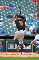 Hunter Hearn (8) of the Sam Houston State Bearkats at bat against the Kentucky Wildcats during game four of the 2018 Shriners Hospitals for Children College Classic at Minute Maid Park on March 3, 2018 in Houston, Texas. The Wildcats defeated the Bearkats 7-2.  (Brian Westerholt/Four Seam Images)