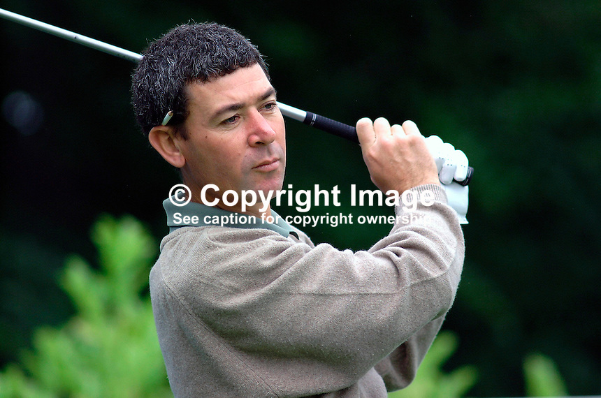 Jorge Berendt, professional golfer, Argentina. Picture taken during practice for the Smurfit European Golf Champsionship at the K Club, Co Kildare, Rep of Ireland. Ref: 200207025639...Copyright Image from Victor Patterson, 54 Dorchester Park, Belfast, UK, BT9 6RJ..Tel: +44 28 9066 1296.Mob: +44 7802 353836.Voicemail +44 20 8816 7153.Skype: victorpattersonbelfast.Email: victorpatterson@mac.com.Email: victorpatterson@ireland.com (back-up)..IMPORTANT: If you wish to use this image or any other of my images please go to www.victorpatterson.com and click on the Terms & Conditions. Then contact me by email or phone with the reference number(s) of the image(s) concerned.