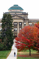 Fall colors bloom in front of Beardshear Hall on the campus of Iowa State University in Ames, Iowa. (Christopher Gannon/Gannon Visuals)