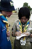 World Scout Jamboree 2007, mångkulturel interaktion, halsdukar, skjortor, scouter,