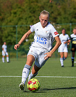 20190921 – LEUVEN, BELGIUM : OHL's Lisa Vanhentenrijk is pictured during a women soccer game between Oud Heverlee Leuven Ladies B and Eendracht Aalst Ladies on the fourth match day of the Belgian Division 1 season 2019-2020, the Belgian women's football national division 1, Saturday 21th September 2019 at the Bruinveld Youth Complex, Domeinstraat in Leuven , Belgium. PHOTO SPORTPIX.BE | SEVIL OKTEM