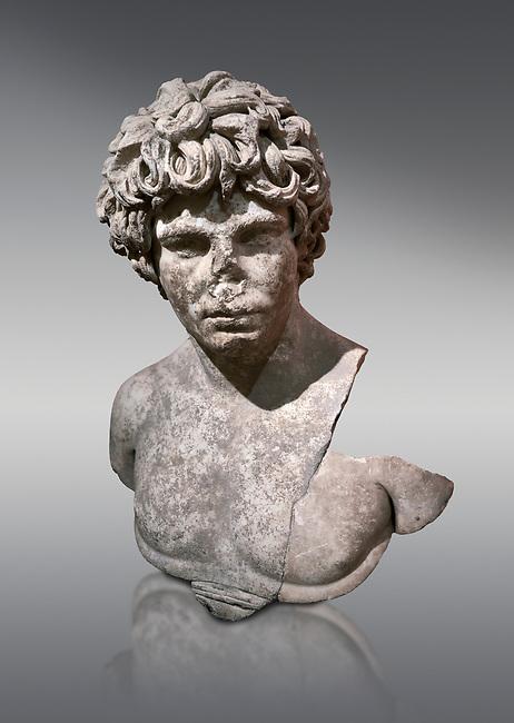 Roman statue of Antinous. Marble. Perge. 2nd century AD. Inv no . Antalya Archaeology Museum; Turkey.