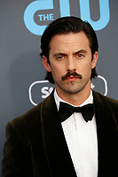 Milo Ventimiglia attends the 23rd Annual Critics' Choice Awards at Barker Hangar in Santa Monica, Los Angeles, USA, on 11 January 2018. Photo: Hubert Boesl - NO WIRE SERVICE - Photo: Hubert Boesl/dpa /MediaPunch ***FOR USA ONLY***