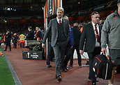 2nd November 2017, Emirates Stadium, London, England; UEFA Europa League group stage, Arsenal versus Red Star Belgrade; Arsenal manager Arsene Wenger walking towards the dugout before kick off