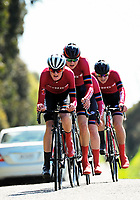 Kings College senior A u20 boys in action during the 2017 NZ Schools Road Cycling championships day one team time trials at Koputaroa Road near Levin, New Zealand on Saturday, 30 September 2017. Photo: Dave Lintott / lintottphoto.co.nz