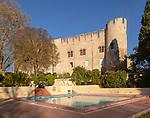 Hotel tourist accommodation in former castle Pousada Castelo de Altivo, Alvito, Baixo Alentejo, Portugal, southern Europe