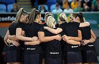 04.09.2016 Silver Ferns during the Netball Quad Series match between the Silver Ferns and Australia played at Margaret Court Arena in Melbourne. Mandatory Photo Credit ©Michael Bradley.
