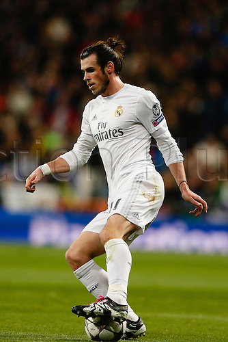 08.03.2016 Estadio Santiago Bernabeu, Madrid, Spain. UEFA Champions League Real Madrid CF versus AS Roma.  Gareth Bale (11) Real Madrid.