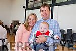 Rita Dowling, her husband Pat Dowling and their five month old son Conor, pictured at the official opening of Blennerville NS on Wednesday afternoon.