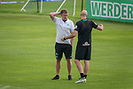 05.01.2019, Trainingsgelaende Randburg Football Club, Johannesburg, RSA, TL Werder Bremen Johannesburg Tag 03<br /> <br /> im Bild / picture shows <br /> <br /> Frank Baumann (Gesch&auml;ftsf&uuml;hrer Fu&szlig;ball Werder Bremen) Christian Vander (Torwart-Trainer SV Werder Bremen)<br /> <br /> Foto &copy; nordphoto / Kokenge
