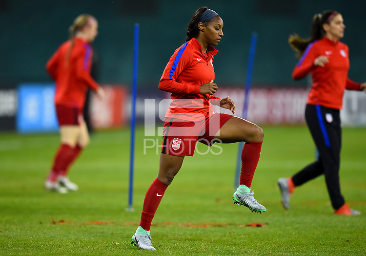 Washington, D.C. - March 7, 2017: The U.S. Women's national team go up against France in a SheBelieves Cup match at RFK Stadium.