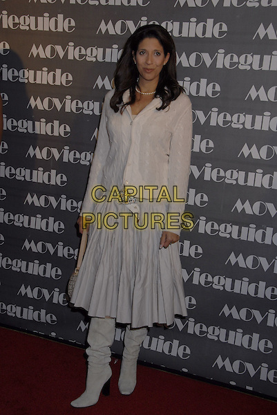CHRISTINE DEVINE.The 15th Annual Movieguide Faith and Values Awards held at the Beverly Wilshire Hotel, Beverly Hills, California, USA..February 20th, 2007.full length grey gray skirt boots jacket.CAP/ADM/GB.©Gary Boas/AdMedia/Capital Pictures
