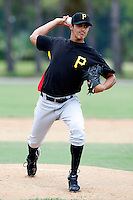 July 13, 2009:  Pitcher Diomedes Garcia of the GCL Pirates during a game at Tiger Town in Lakeland, FL.  The GCL Pirates are the Gulf Coast Rookie League affiliate of the Pittsburgh Pirates.  Photo By Mike Janes/Four Seam Images