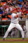 18 May 2007: Washington Nationals catcher Brian Schneider in action against the Baltimore Orioles at RFK Stadium in Washington, DC. The Orioles defeated the Nationals 5-4 in the first game of the 3-game interleague series...Mandatory Photo Credit: Ed Wolfstein Photo