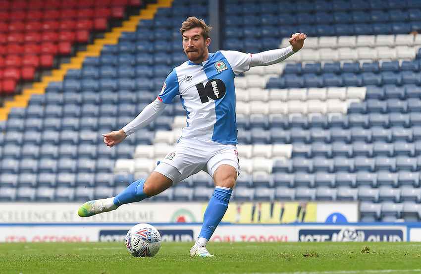 Blackburn Rovers' Joe Rothwell scores his sides opening goal to make the score 1-1<br /> <br /> Photographer Dave Howarth/CameraSport<br /> <br /> The EFL Sky Bet Championship - Blackburn Rovers v West Bromwich Albion - Saturday 11th July 2020 - Ewood Park - Blackburn <br /> <br /> World Copyright © 2020 CameraSport. All rights reserved. 43 Linden Ave. Countesthorpe. Leicester. England. LE8 5PG - Tel: +44 (0) 116 277 4147 - admin@camerasport.com - www.camerasport.com