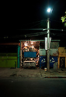 Old truck. Night bike ride with Kurt, Mike and Adrian.  The east side of Mexico City.  Mexico DF