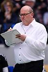 06.12.2018, ZF Arena, Friedrichshafen<br />Volleyball, Bundesliga MŠnner / Maenner, Normalrunde VfB Friedrichshafen vs. SWD powervolleys DŸren / Dueren<br /><br />Stefan Falter (Trainer /  Coach Dueren)<br /><br />  Foto &copy; nordphoto / Kurth