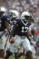 06 September 2008:  Penn State QB Daryll Clark (17) threw for 215 yards and 2 TDS and ran for 61 yards and another TD.  The Penn State Nittany Lions defeated the Oregon State Beavers 45-14 September 6, 2008 at Beaver Stadium in State College, PA..