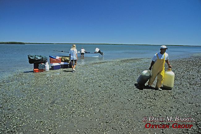 Mario, Ladonna & Paco Unloading Boat