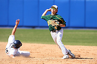 March 14, 2010:  Shortstop Max Casper (4) of North Dakota State University Bison vs. Akron University at Chain of Lakes Park in Winter Haven, FL.  Photo By Mike Janes/Four Seam Images