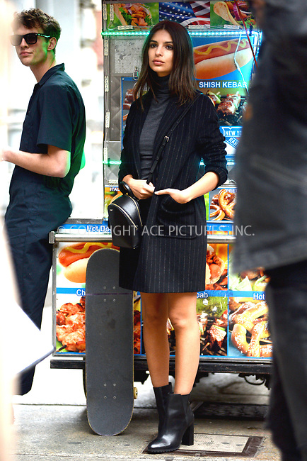 www.acepixs.com<br /> April 24, 2017 New York City<br /> <br /> Emily Ratajkowski was seen at a photo shoot in Soho in New York City on April 24, 2017.<br /> <br /> Credit: Kristin Callahan/ACE Pictures<br /> <br /> Tel: 646 769 0430<br /> Email: info@acepixs.com