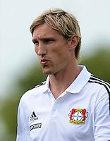 Fussball 1. Bundesliga:  Saison  Vorbereitung 2012/2013     Testspiel: Bayer 04 Leverkusen - FC Augsburg  25.07.2012 Teamchef Sami Hyypiae (Bayer 04 Leverkusen)