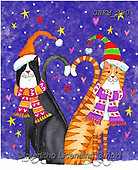 Kate, CHRISTMAS ANIMALS, WEIHNACHTEN TIERE, NAVIDAD ANIMALES, paintings+++++Christmas page 99,GBKM250,#xa# ,cat,cats