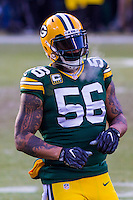 Green Bay Packers linebacker Julius Peppers (56) prior to a game against the New York Giants on January 8th, 2017 at Lambeau Field in Green Bay, Wisconsin.  Green Bay defeated New York 38-13. (Brad Krause/Krause Sports Photography)