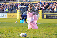 Half-time action on the field. Aviva Premiership match, between Bath Rugby and Harlequins on February 18, 2017 at the Recreation Ground in Bath, England. Photo by: Patrick Khachfe / Onside Images