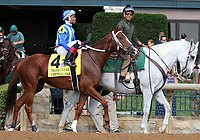 October 06, 2018 : #4 Vertical Oak and Ricardo Santana Jr. in the 38th running of the Thoroughbred Club of America (Grade 2) $250,000 at Keeneland Race Course on October 06, 2018 in Lexington, KY.  Candice Chavez/ESW/CSM