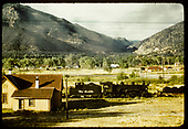 D&amp;RGW #482 passing section house.<br /> D&amp;RGW  Salida area, CO